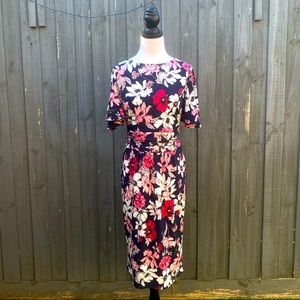 Leona By Leona Edmiston Floral Midi Dress AU10